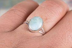 Zilveren ringen - Larimar Gemstone Ring, handgemaakte zilveren Ring - Een uniek product van ArtisanJewellery op DaWanda