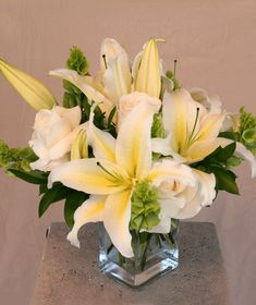 2d63f46d6 A White Bunch of Beauty. Flowers Los AngelesOriental LilyGrandparents Day Flower ...