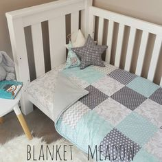 Check out this item in my Etsy shop https://www.etsy.com/au/listing/477612342/aqua-grey-cot-quiltzebraplay-matbaby