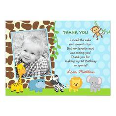 Jungle Safari Zoo Themed Birthday Invitation Card Jungle Birthday