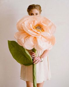 DIY Giant Paper Flowers | from Ruche via design*sponge | House & Home