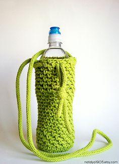 Water Bottle Holder Water Bottle Cover Crochet by Natalya1905