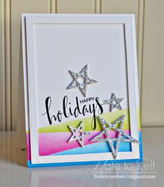 Note To Self: Happy Holidays - MFT Card Challenge #254