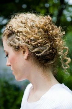 Natural curls with braids