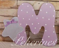 Decoración Infantil Pekerines: LETRAS INICIALES DE MADERA DECORADAS  pekerines.blogspot.com.es