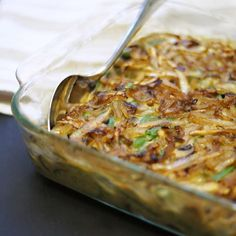 Clean Green Bean Casserole (Vegan, Paleo). Featuring fresh green beans and caramelized onions, and using no dairy or flour, this homemade green bean casserole is just about as clean as it gets!