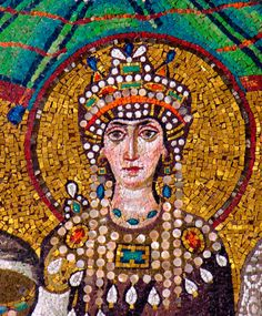 MANIAKIS Arreglo bizantino que cubria los hombros y pecho, adornado con bordados de hilo de oro y piedras preciosas. Está presente en el atuendo de Teodora, esposa del emperdor justiniano.