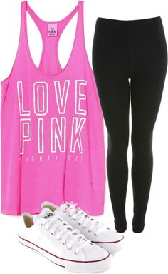 """On Wednesday's We Wear Pink"" by van2016 on Polyvore"