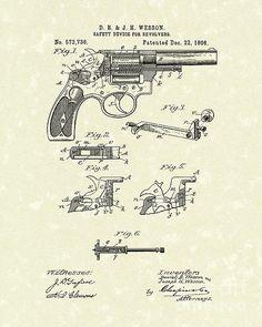 Wesson Revolver 1896 Patent Art #patentart
