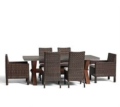 Abbott Rectangular Dining Table & Torrey Chair Set - Espresso #potterybarn