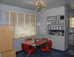 Lustron Home - dining room/kitchen Reminds me of my great-grandmas lustron! Happy times!