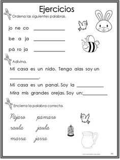 Valentine's Day Activities for First Grade Back To School Worksheets, Literacy Worksheets, Spanish Lessons For Kids, Spanish Class, Spanish Language Learning, Speech Language Therapy, Math Facts, Word Problems, Kids Education