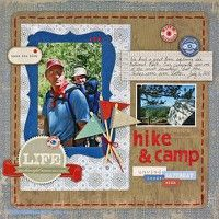 Love the flags!!!  A Project by Liz_Qualman from our Scrapbooking Gallery originally submitted 02/24/12 at 10:04 AM