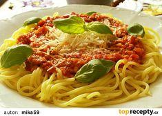 Květákovo-masová směs na špagety recept - TopRecepty.cz Spaghetti, Ethnic Recipes