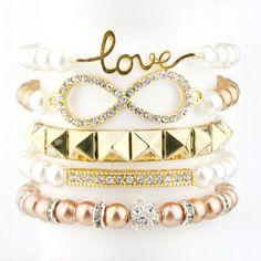 Infinity LOVE 5 PIECE BRACELET SET | Style Lust Shop