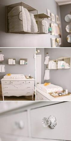 Sweet, Feminine Nursery in Peach, Gold, and Gray by lilly9108