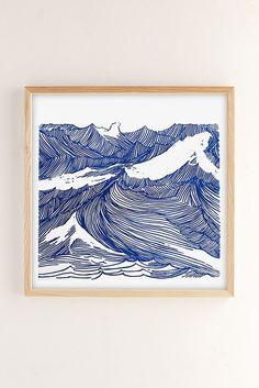Slide View: 2: Kym Fulmer Crashing Waves Art Print
