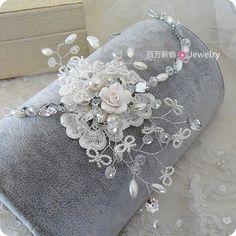 beaded hair accessories   ... Pearl Beaded Hairpin Hairbands Hair Accessories Bride Wedding Jewelry