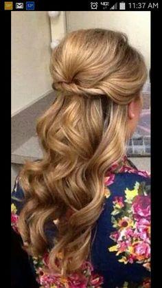 Def my wedding day hair! Blowout done at a local salon. (Studio RD DryBar)