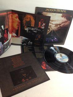 Jackson Browne Running On Empty Vintage Vinyl Record Album lp 1977 Asylum Records 6E-113 includes the Original Gatefold Posters by NostalgiaRocks