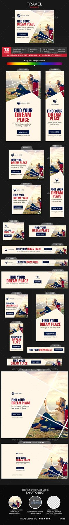 Travel Banners - Banners & Ads Web Elements Download here : https://graphicriver.net/item/travel-banners/19379862?s_rank=102&ref=Al-fatih