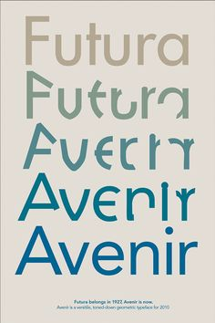 Two-sided Poster of Frutiger's typeface, Avenir Typo Poster, Poster Fonts, Typographic Poster, Typography Letters, Graphic Design Typography, Type Anatomy, Brochure Design, Booklet Design, Book Projects