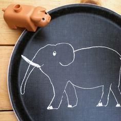 Kids Linen Tray: Elephant