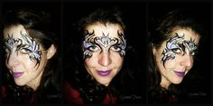 tribal eyes face painting