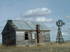 """Old Country Residence"" - An abandoned homestead sits on the prairie of eastern Montana."