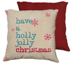 have a holly jolly #christmas #pillow #homedecor #typography #HolidayHouse