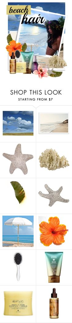 """Beach hair"" by atie-212 ❤ liked on Polyvore featuring beauty, Grandin Road, Post-It, Dot & Bo, Varaluz, Frankford, New Look and Alterna"