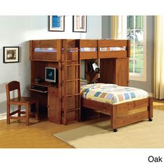 Siena Junior Loft Twin Over Twin Bunk Bed | Overstock™ Shopping - Great Deals on Beds