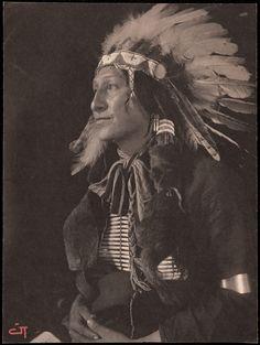 Фото Gertrude Kasebier, 1898 год. Joe Black Fox.