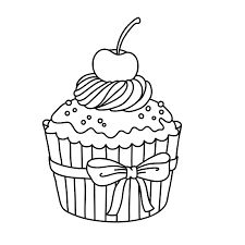 Výsledek obrázku pro cupcake kleurplaat Cupcake Coloring Pages, Food Coloring Pages, Coloring Pages For Boys, Free Printable Coloring Pages, Coloring Sheets, Coloring Books, Cupcake Drawing, Cupcake Art, Digi Stamps