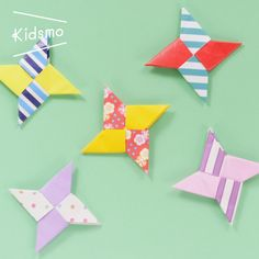 "Easy origami ④ Learn how to make ""Shuriken""! / How to make an easy origami ""Throwing star"", Origami Paper Folding, Origami 3d, Origami Star Box, Origami Fish, Origami Butterfly, Paper Crafts Origami, Origami Stars, Paper Crafting, Origami Bookmark"