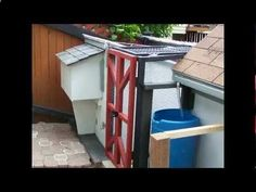 building a chicken coop in a small back yard - YouTube