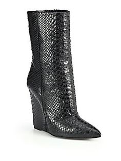 89f15c9456e9 Giuseppe Zanotti - Snakeskin-Print Wedge Ankle Boots Wedge Ankle Boots