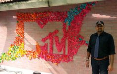Origami Installation for MTV  by Himanshu Agrawal.