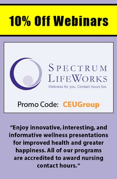 Get 15 off courses from allegra learning solutions when using get 10 off webinars at spectrum lifeworks when using promo code ceugroup http fandeluxe Choice Image