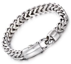 Kalen New Fashion Link Chain Bracelets Stainless Steel Jewelry High Polished Hand Chain Cheap Men's Accessories Cool Gifts Gold And Silver Bracelets, Bracelets For Men, Fashion Bracelets, Chain Bracelets, Bangles, Mens Skeleton Watch, Mens Band Rings, Mens Chain Necklace, Stainless Steel Jewelry
