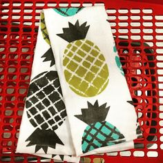 #pineapple #kitchentowels -- a #musthave for your #summer   #kitchen.  @target  for only $2.50 each