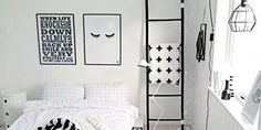 Ideas para decorar de blanco y negro tu habitación