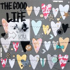 The Good Life by @Gina Vaughan Lideros  at @Studio_Calico  The more patterned papers you can fit on a layout the better I say! The Printshop line has so many fantastic designs that work perfectly together. This layout is my new favorite!