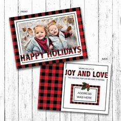 Happy Holidays Plaid Christmas Card