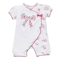 Designer baby girl clothing - Bebe Elise Wrap Romper - $34.95 - Super sweet baby girls Elise wrap romper by Bebe!  Features delicate elise floral print and gorgeous bow. Material:  95% Cotton / 5% Elastane Jersey. Designer baby girl clothing - Bebe