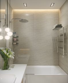 5 Small Bathroom Ideas - My Romodel Small Toilet, Bathroom Design Small, Kitchen And Bath, Home Decor Inspiration, Home Interior Design, Living Room Decor, Decoration, Bathtub, House Design
