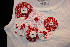 Red and White Decorated TShirt