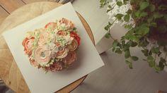 peach flower cake