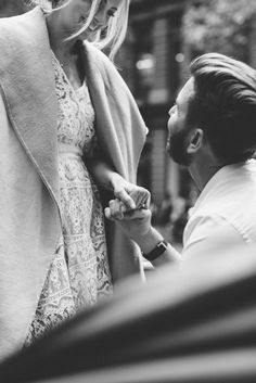 Totally fell for these photographs of sweet couple Hannah & Aaron choosing their engagement ring at Tiffany & Co. They are just adorable .. (love her lace dress and casualup-do). photos by joseph willis, styling tane meiring, art direction karissa fanning | for the lane xx debra