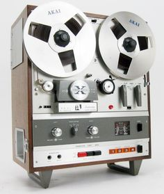AKAI X-1800SD REEL TO REEL 8 TRACK TAPE DECK in WOOD CABINET SERVICED * NICE!   eBay